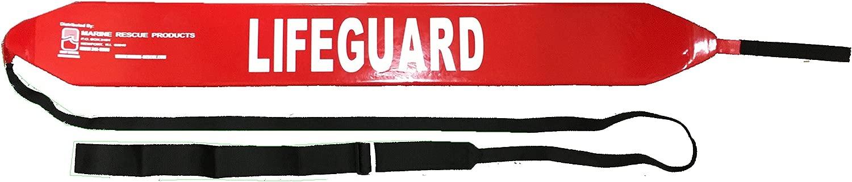 ウォーターパークチューブ 【プール用 サイズ:長さ1250mm×幅140mm×厚み85mm ストラップ長さ:3000mm】レッド 金具なし 赤十字水上安全法 ライフセービング RESCUE