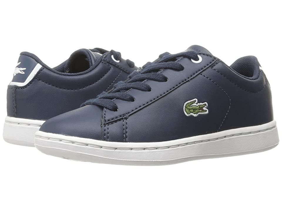 Lacoste Kids Carnaby Evo (Little Kid) (Navy/Navy) Kids Shoes