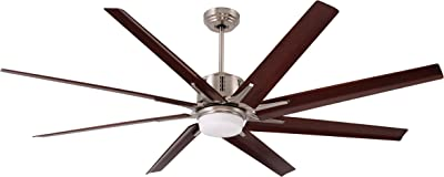 Emerson CF985LBS Aira Eco 72-inch Modern Ceiling Fan, 8-Blade Ceiling Fan with LED Lighting and 6-Speed Wall Control