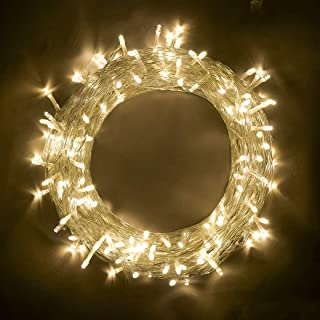 woohaha String Lights Fairy Lights, Safe Voltage 10m (33feet) 100 Led 8 Modes with Memory 31V UL Certified Power Supply for Garden, Party, Wedding, Christmas (100LED, Warm White)