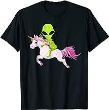 alien riding a unicorn