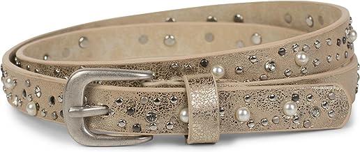 unisex 03010060 perforazione su tutta la superficie accorciabile styleBREAKER cintura con borchie in design vintage con borchie chiare e scure