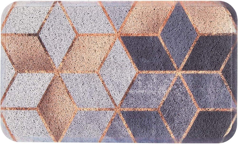 Carpet Entrance mat,Geometric Pattern Household Kitchen Bathroom Waterproof Non-Slip Door mat Rug-Geometry 60x90cm(24x35inch)