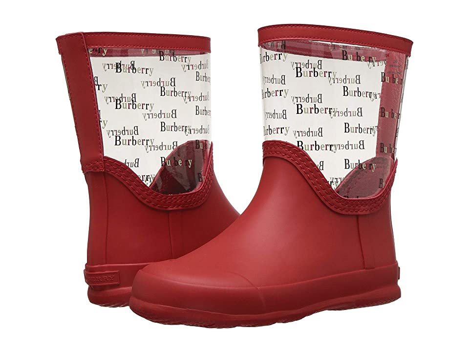 Burberry Kids Frosty Rain Boot (Toddler/Little Kid) (Bright Red) Kids Shoes