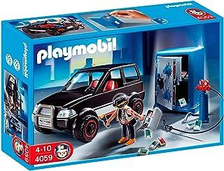 Playmobil- Thief with Safe and Getaway Car Ladrón de Caja Fuerte con Coche, (626564)