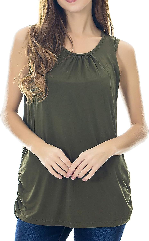 Smallshow Womens Maternity Nursing Tank Top Sleeveless Comfy Breastfeeding Clothes