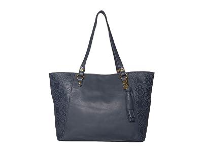 The Sak Sienna Medium Satchel by The Sak Collective (Indigo Souk Embossed) Handbags