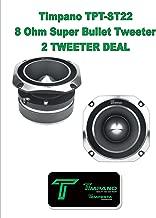 """$59 » (2) Timpano TPT-ST22 320 Watt 1.75"""" Inch 8 Ohm Titanium Super Bullet Tweeter 1 Pair"""