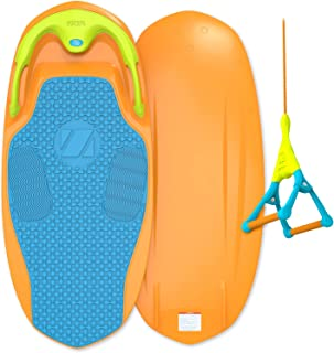 ZUP YouGo Board and Handle Combo, All-in-One Kneeboard, Wakeboard, Wakeskate, and Wakesurf Board for All Ages, Orange