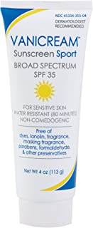 Vanicream Sunscreen Sport, Spf 35, no color- Unscented, 4 Ounce