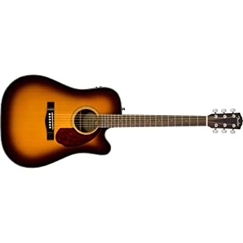Fender CD-140SCE Sunburst + Estuche Guitarra Acústica: Amazon.es ...
