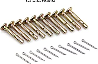 Igidia Replacement Shear pins for MTD 738-04124 738-04124A Snowblowers