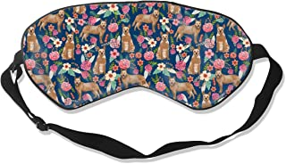 Australian Cattle Dog Red Heeler Florals Dog Desig Breathable Pure Silk Sleep Eye Mask Best Sleeping Eye Cover for Travel, Nap, Blindfold with Adjustable Strap for Men, Women or Kids