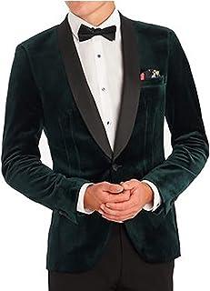 Mens Tuxedo Designer Shawl Lapel Coat Christmas Party Wear Green Velvet Tuxedo Jacket Blazers