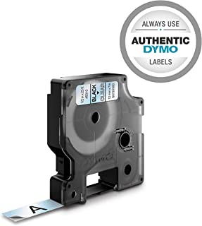 DYMO Standard D1 45010 Labeling Tape (Black Print on Clear Tape, 1/2'' W x 23' L, 1 Cartridge)