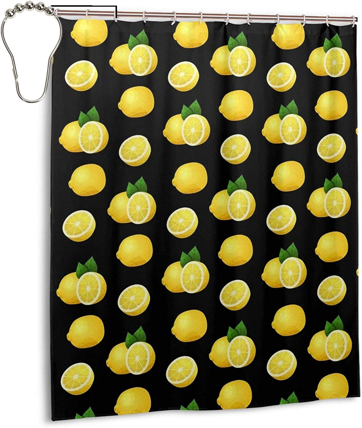 Arlington Mall Ranking TOP11 Luxury Lemon Pattern Shower Curtain Liner Polyester 60x72 in Cur