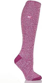 Heat Holders Women's Warm Winter Thermal Long Socks, Raspberry Twist, UK 4-8