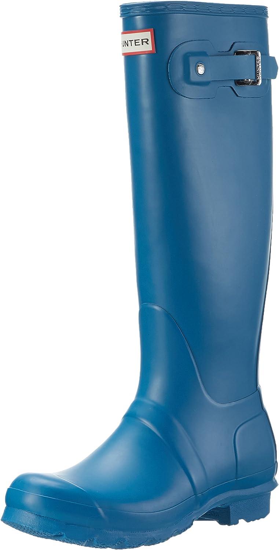 Hunter Hunter damen ORG TALL, Damen Gummistiefel, Blau (Blau rob), 42 EU  schnelle Lieferung
