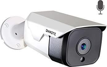 【Audio】 ONWOTE 5MP HD PoE IP Security Camera Outdoor, 5 Megapixel 2592 x 1944P Bullet Home Video Surveillance Camera, 100ft Night Vision, IP65 Waterproof, Motion Alert, More Stable Than Wireless