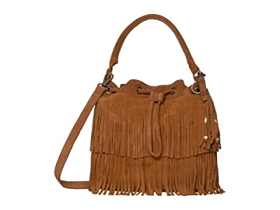 FRYE AND CO. Phoebe Bucket Bag (Cognac) Handbags