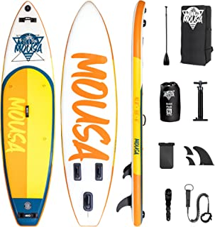 Mousa Inflatable Paddle Board, 10'8'' 33'' 6'' SUP, Camera Mount, 3-Fin Floating Paddleboard Non Slip Deck, Waterproof Pho...