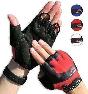 Cycling Gloves Mountain Bike Gloves Road Racing Bicycle Gloves for Biking, Mountain Biking, Riding, Gym, Sports, Foam Padded Breathable Half Finger Gloves, Men Women Work Gloves