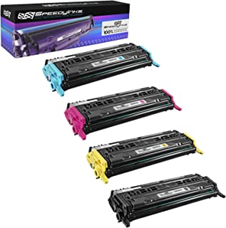 Speedy Inks Remanufactured Toner Cartridge Replacement for HP 124A (4-Pack)
