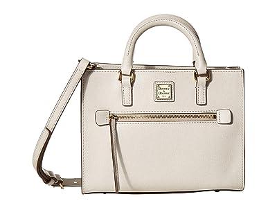 Dooney & Bourke Saffiano Mini Zip Tote (Ecru) Handbags