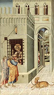 Historic Pictoric Print : Saint John The Baptist in Prison Visited by Two Disciples, Giovanni di Paolo, c 1458, Vintage Wall Decor : 21in x 36in