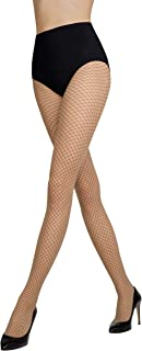 Fishnet Sheer Pattern Diamond Black Tights Stockings Pantyhose 😍 Gatta FUNNY 03 [Made in Europe]