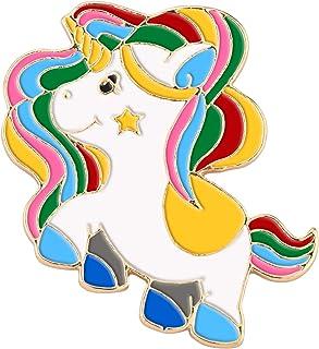 Avamie Magical Colorful Unicorn Enamel Lapel Pin, Original Design Unicorn Pin