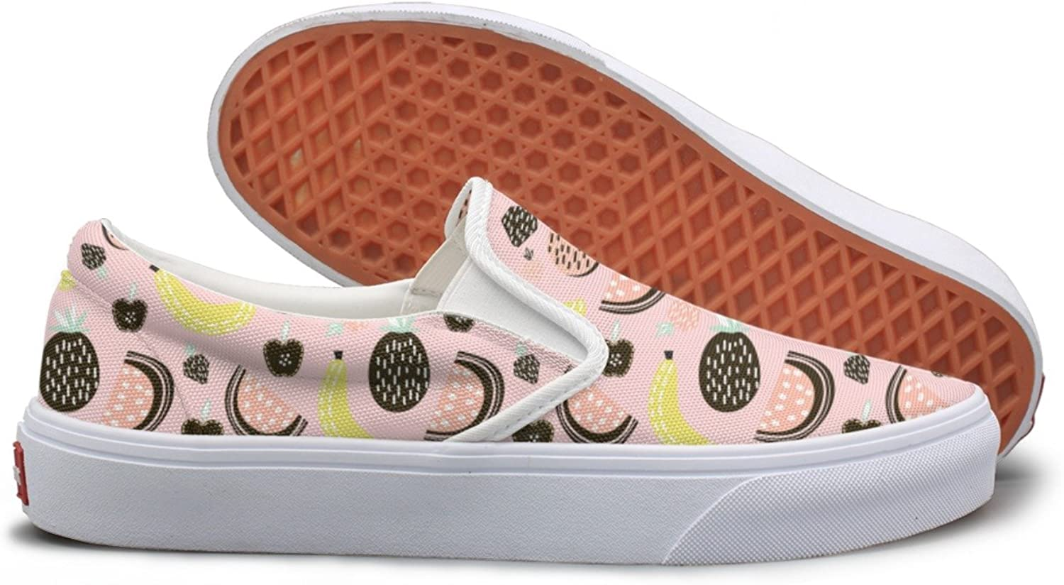 SEERTED Best Fruits to Eat Great for Kids Canvas Slip On shoes for Women