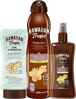Hawaiian Tropic Aceleración del Bronceado - Spray Aceite Protector Solar SPF 20 + Bruma de Aceite Argán SPF 15 + After Sun...