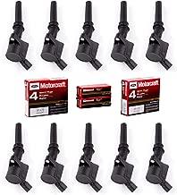 MAS 10 PCs Ignition Coil DG508 & 10 PCs Spark Plug SP479 for Ford Lincoln Mercury 4.6L 5.4L V8 Crown Victoria Expedition F-150 F-250 Mustang 3W7Z-12029-AA DG508 DG457 DG472 DG491