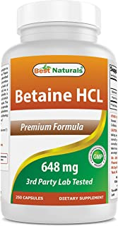 Best Naturals Betaine HCL 648 mg 250 Capsules