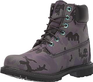 Timberland Womens 6In Premium Fabric Boot, Black Camo Iridescent, Size 11