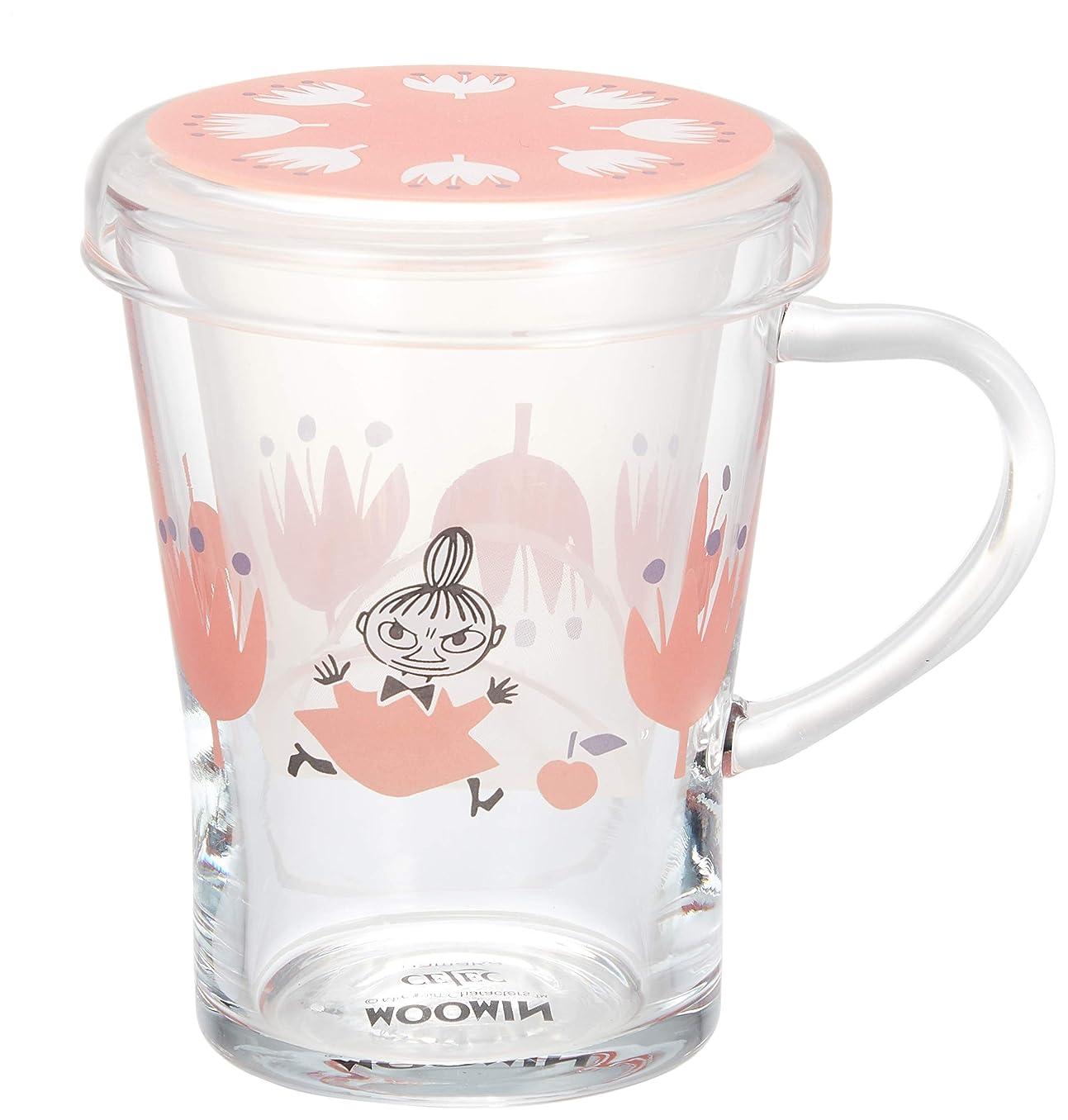 キャンバスパースブラックボロウに付けるMOOMIN (ムーミン) 「 クッカ 」 ティーメイト マグカップ(茶こし付) レッド MM1002-GT57
