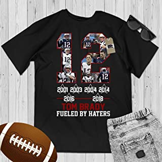Brady Fueled By Haters Football Jersey 12 New England Customized Handmade Hoodie/Sweater/Long Sleeve/Tank Top/Premium T-shirt