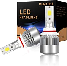 LED Headlight Bulbs Headlight bulb 9005 Hb3 All-in-One Conversion Kit Led headlights 9005 Hb3 with COB Chips 6500K Cool White Beam Bulbs IP68 Waterproof