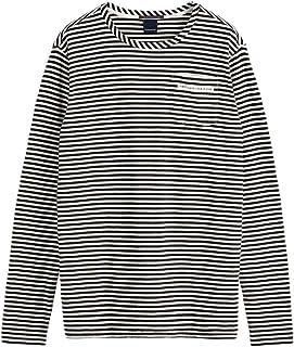 スコッチ&ソーダ ロンT SCOTCH&SODA Chest Pocket T-Shirt ボーダー 282-73402 メンズ トップス 長袖 ブラック オフホワイト アメカジ