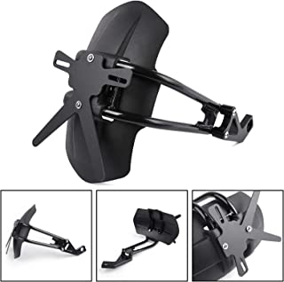 Anhuidsb Rear Back Wheel Tire Hugger Fender Mudguard with Chain Guard Cover Protector Kit for YAMAHA XSR 700 XSR700 2016 2017 2018 2019 anhuidsb Color : Black