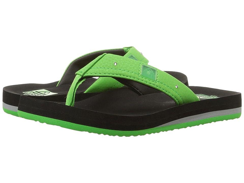 Reef Kids Ahi Lights (Infant/Toddler/Little Kid/Big Kid) (Black/Green) Boys Shoes