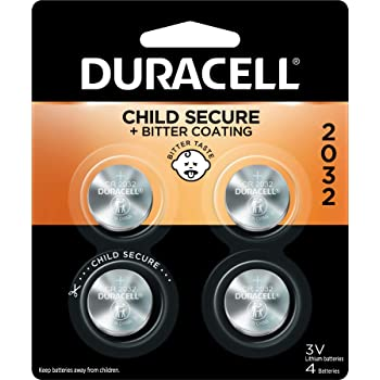 Duracell - 2032 3V Lithium Coin Battery - with bitter coating - 4 count