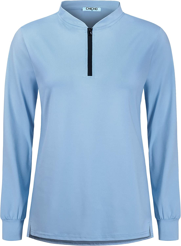 Women Hiking Long Sleeve/Sleeveless UPF 50+ Sun Protection Golf Tennis Shirt