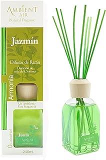Ambientair Classic. Difusor de varillas perfumadas. Ambientador Mikado aroma Jazmín. Difusor 240 ml con palitos de ratán. ...
