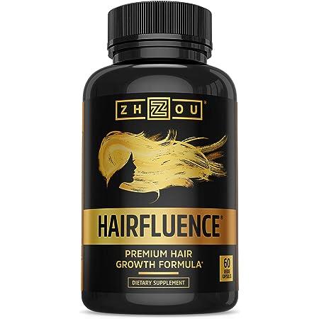 Zhou Hairfluence | Premium Hair Growth Formula for Longer, Stronger, Healthier Hair | for All Hair Types | 60 VegCaps