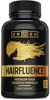 Zhou Hairfluence | Premium Hair Growth Formula for Longer, Stronger, Healthier Hair | for All Hair Types | 60 VegCaps