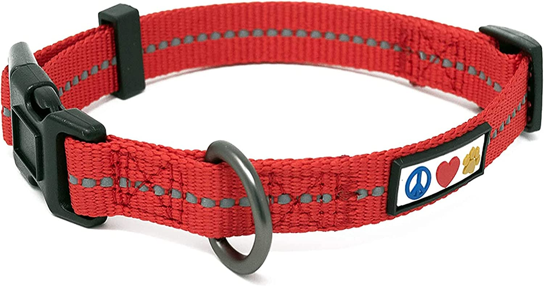 Pawtitas Reflective Dog Popular brand Same day shipping Collar with Thread Stitching
