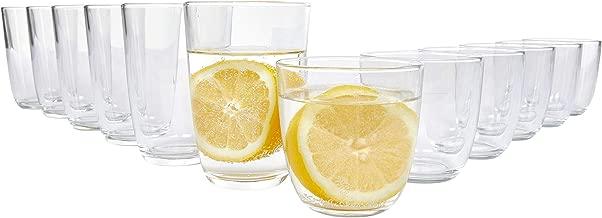 Bormioli Gläser Set 'Fresh' 12 teilig | Füllmenge 250 ml & 350 ml | Hochwertige Qualität für EIN perfektes Trinkgefühl ohne scharfe Kanten