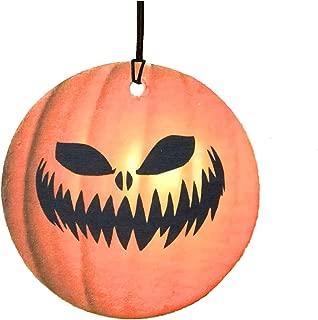 Scary Pumpkin Face Halloween Car Air Freshener